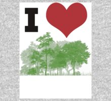 I Heart Forest / Nature / Trees One Piece - Long Sleeve