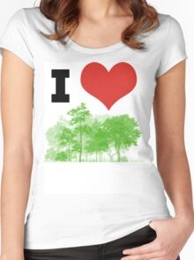 I Heart Forest / Nature / Trees Women's Fitted Scoop T-Shirt
