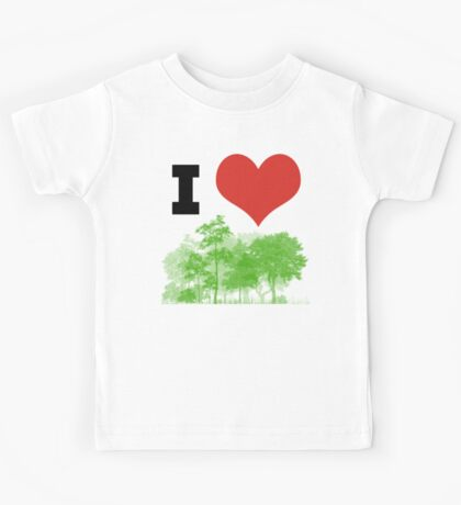 I Heart Forest / Nature / Trees Kids Tee