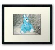 Blue Rabbit - Easter Gift Framed Print