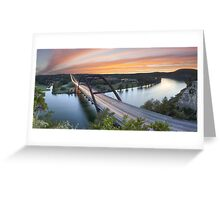 Pennybacker Bridge Panorama, Austin, Texas 3 Greeting Card