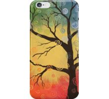 Whimsical tree of color iPhone Case/Skin