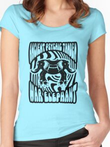 Ancient physic tandem war elephant Women's Fitted Scoop T-Shirt