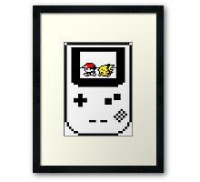 Pikachu & Ash - Pokemon 8 bits Framed Print