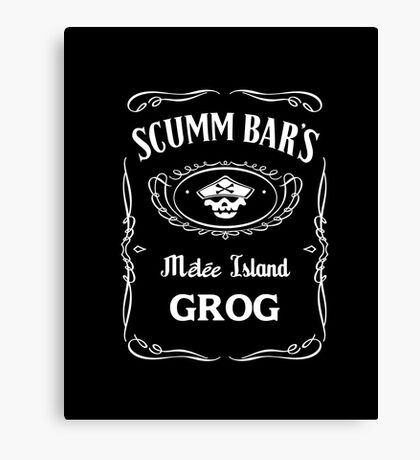 Scumm Bar's GROG Canvas Print
