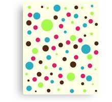 Retro pattern - dots Canvas Print