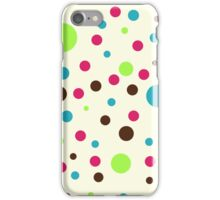 Retro pattern - dots iPhone Case/Skin