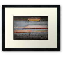 Abstract Color, Texture, and Type Framed Print