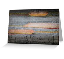Abstract Color, Texture, and Type Greeting Card