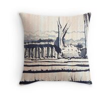 Ink Farm Field Throw Pillow