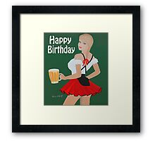 Birthday beer wench Framed Print