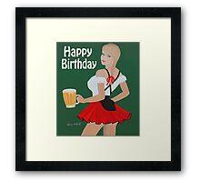 Birthday beer wench Framed Print