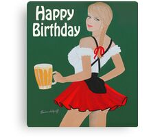 Birthday beer wench Canvas Print