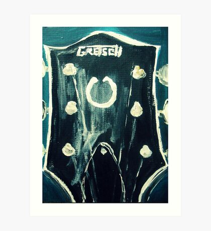 Guitar Headstock Guitar Fine Art Acrylic Painting Art Print