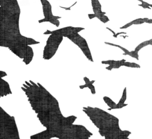 Flock of Birds in Flight Sticker
