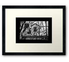 Deserted Building Detail At Nikola Tesla's Wardenclyffe Laboratory Site - Shoreham, New York Framed Print