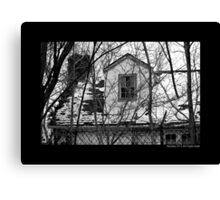 Deserted Building Detail At Nikola Tesla's Wardenclyffe Laboratory Site - Shoreham, New York Canvas Print