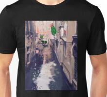 Venice canal with gondolas and gondoliers Unisex T-Shirt
