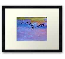 which way are they going? watercolor Framed Print