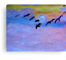 which way are they going? watercolor Canvas Print