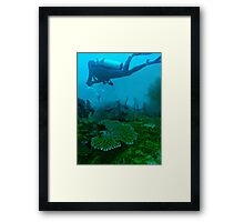 WHAT DOES GOD NEED WITH A STARSHIP..? Framed Print