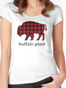 Buffalo Plaid Women's Fitted Scoop T-Shirt