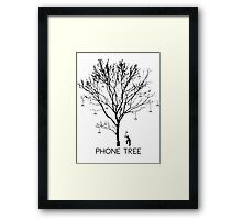 Chopping Down the Phone Tree Framed Print
