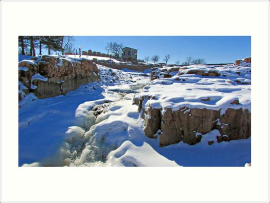 Snowy Falls by Greg Belfrage
