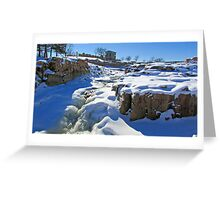 Snowy Falls Greeting Card