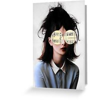 she had music in her eyes Greeting Card