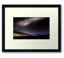 Lights over Hume Framed Print