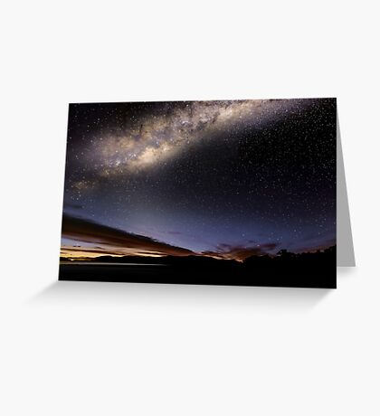 Lights over Hume Greeting Card