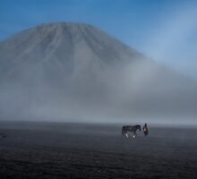 horseman and mount Batok by paulcowell