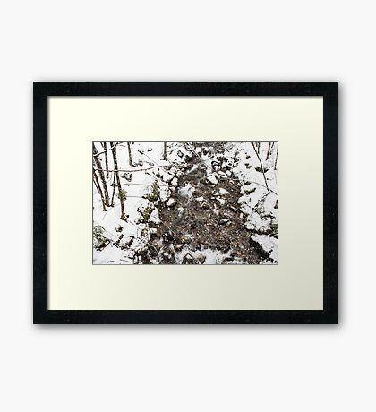 Snow Storm and a Mountain Stream Framed Print