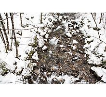 Snow Storm and a Mountain Stream Photographic Print