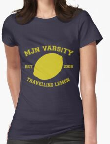 MJN Varsity- Travelling Lemon Womens Fitted T-Shirt