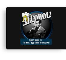 Alcohol.  Canvas Print
