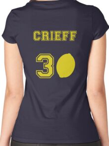 Martin Crieff- Travelling Lemon Jersey  Women's Fitted Scoop T-Shirt