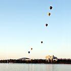 iPad case - Canberra Balloon Festival #1 by Odille Esmonde-Morgan