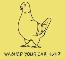 Pooping Pigeon Kids Tee