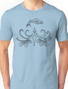 Ornate Mackerel Fish (Black) Unisex T-Shirt
