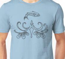 Ornate Mackerel Fish (Black) Unisex T-Shirt