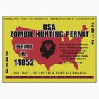 Zombie Hunting Permit 2013 - Walking Dead  by sturgils
