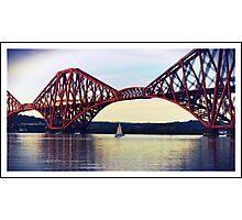 Passing under the bridge Photographic Print