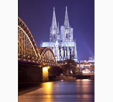Hohenzollern Brücke and Cologne Cathedral by Night Unisex T-Shirt