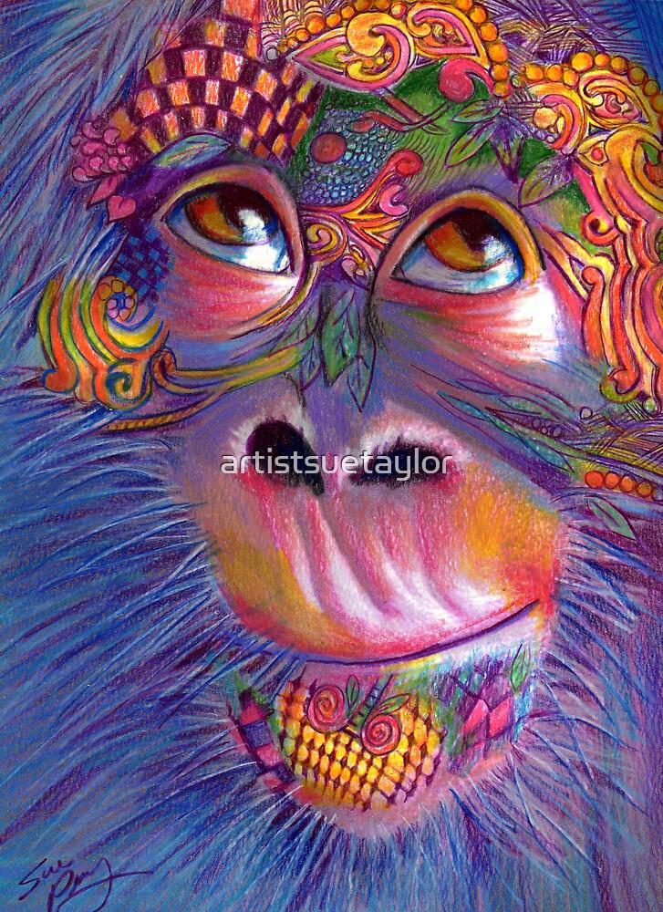 Monkey Face by artistsuetaylor