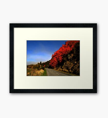 red hills Framed Print
