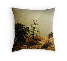 Two Trees, Stormy Weather Throw Pillow