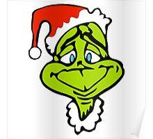 Santa The Grinch Christmas Poster