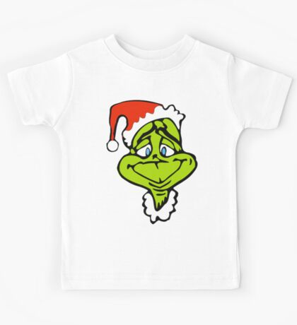 Santa The Grinch Christmas Kids Tee